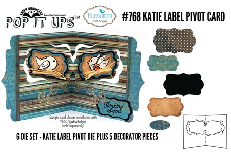 768 Katie Label Pivot Card