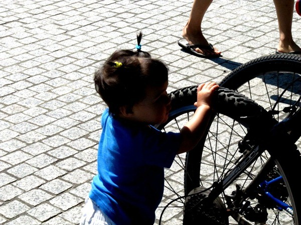 Family bike ride - Toronto