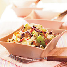 Peanutty Cabbage-Apple Slaw with Raisins