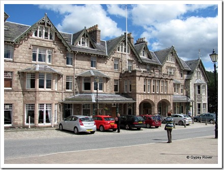 Fife Arms hotel, another large hotel in Braemar. The town was renowned for it's hotels and guest houses.