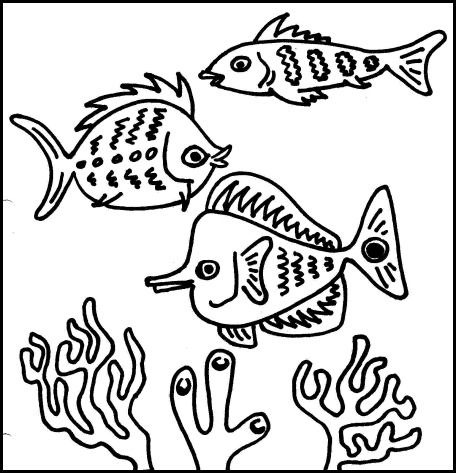 Peces colorear Fishes coloring 03