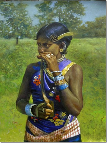 Odisha tribal woman painting