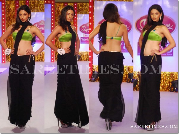 Signature_Fashion_Show_Black_Designer_Saree