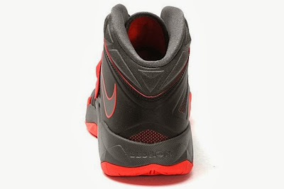 nike zoom soldier 7 gr black grey red 2 05 Nike Zoom Soldier VII   Miami Heat Away   Available Now