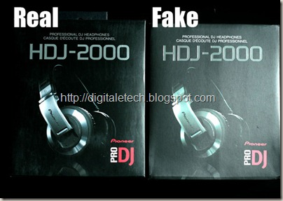 fake vs real pioneer hdj2000 --