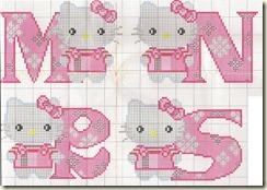 Punto Cruz Abecedário de Hello Kitty- Cópia
