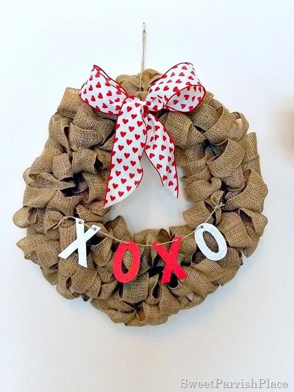 Burlap XOXO wreath3