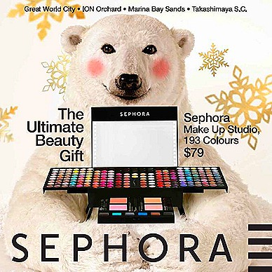 Sephora limited Edition Makeup Studio, 193 colours eyeshadoes, blushers