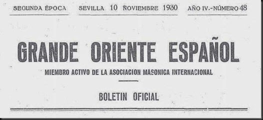 GRANDE ORIENTE SEVILLA 1930