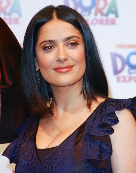 Salma Hayek - Mid-Length Straight Hair
