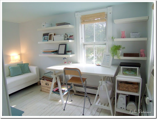 feminine office guest room