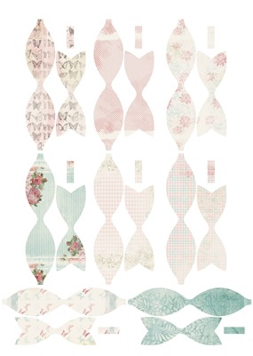 Shabby Flowers Elements Sheet - Bows