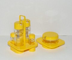 Valira condiment set, yellow