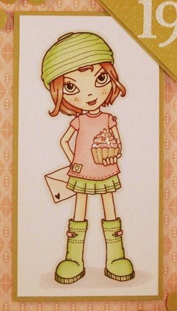 charisma cardz #24 - pink & green (close up)