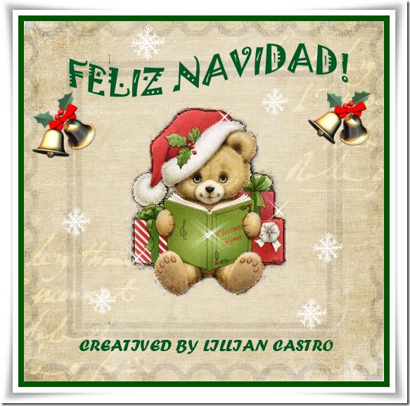 feliz navidad oso