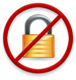 No padlock icon