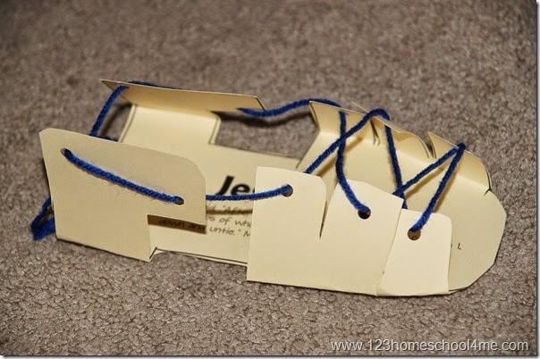 Sandal Template Craft for Kids