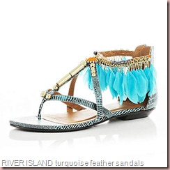 RIVER ISLAND turquoise feather