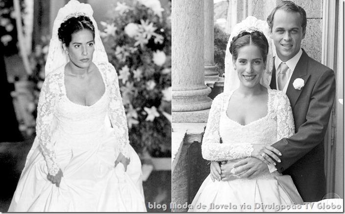 moda da novela mulheres de areia- vestido de noiva da raquel