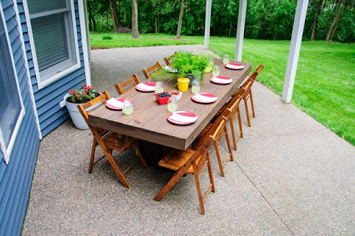 diy outdoor patio table decor and the dog rh decorandthedog net outdoor patio dining outdoor patio dining chairs