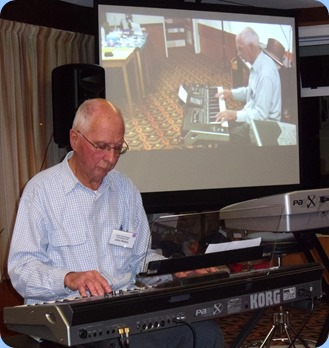John Perkin playing his Korg Pa3X