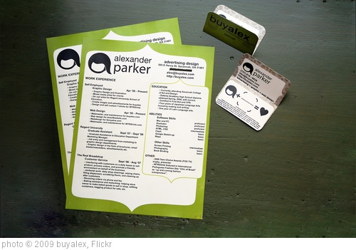 'Green Resume CV & Business Card' photo (c) 2009, buyalex - license: http://creativecommons.org/licenses/by/2.0/