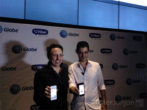 Peter Bithos, Senior Advisor for Consumer Business at Globe, with Talmon Marco, Viber CEO