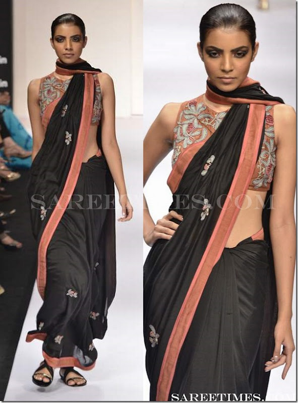 Vivek_Kumar_Black_Saree