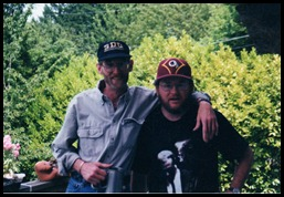 John and I on the deck in Tigard