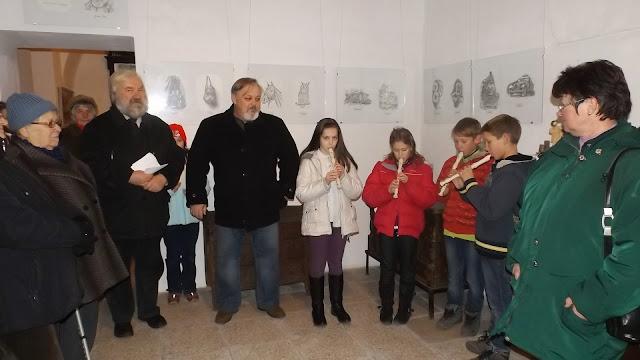Lantai Csaba kiállítása a penci múzeumban.