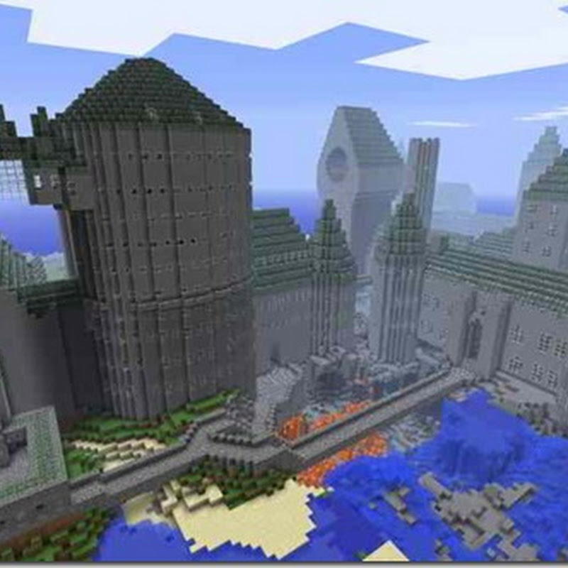Minecraft 1.2.5 - Hogwarts Map (Harry Potter)