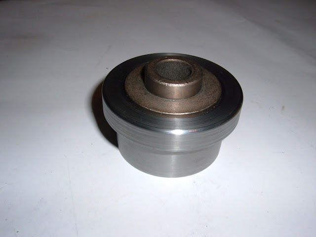 Pilot bushing adapter for 1953-1963 Nailheads. Center of pilot is .593 but can be bored larger. 50.00