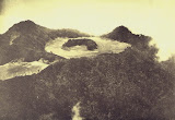 "The summit of Gunung Merapi, Photo published in Taverne, 1926 ""Vulkaanstudien op Java,"" (courtesy of Volcanological Survey of Indonesia)."
