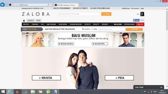 Zalora, salah satu toko online yang terpercaya
