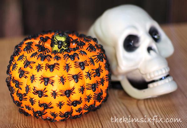 Bug covered pumpkin