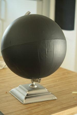 chalkboard paint globe tutorial