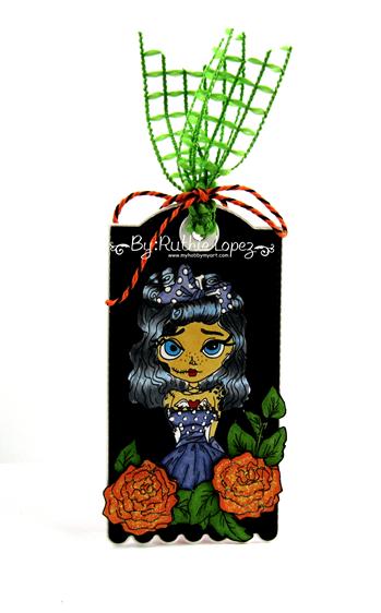 Lacy Sunshine - Myra Mains - Dia de Muertos Tag - Ruthie Lopez