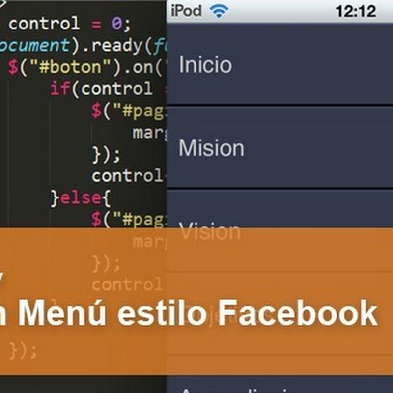 Cómo hacer un menú estilo Facebook para móviles