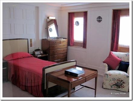 The Duke of Edinburgh's bedroom. He preferred blankets rather than duvets.