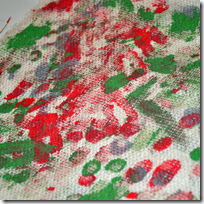 painted burlap