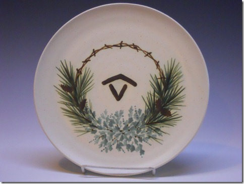 brand platter with sage and pine