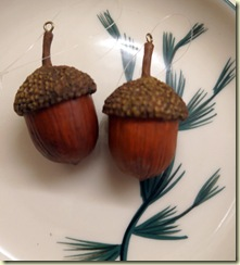 metal acorn ornaments