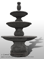 Playa Vista 3-Tier Fountain, D84 Charcoal Grey Granite