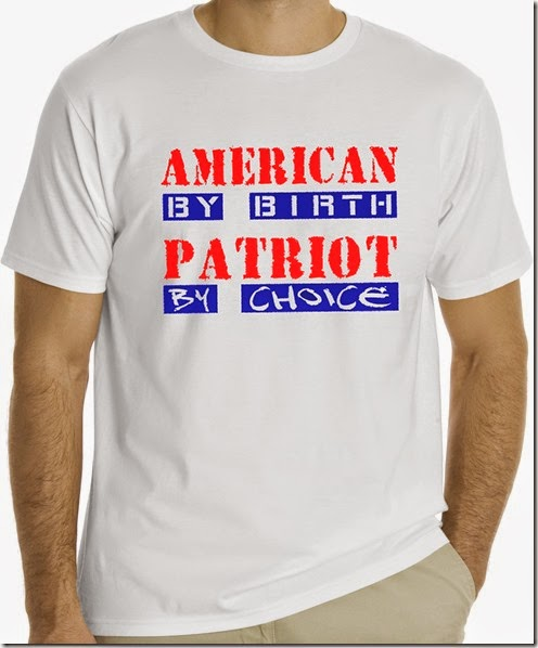 American by birth, mock up on white shirt copy