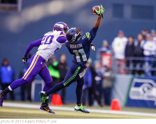 'Percy Harvin is real and he is spectacular.' photo (c) 2013, Adam Rifkin - license: http://creativecommons.org/licenses/by/2.0/