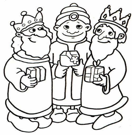 Dibujos para imprimir de navidad reyes magos