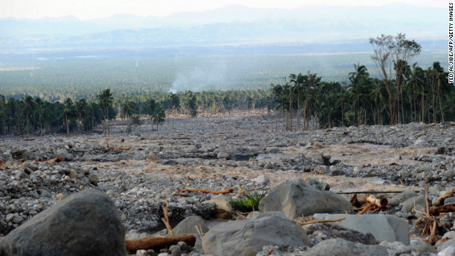 These boulders cascaded into New Bataan township in the Philippines after Typhoon Bopha, 5 December 2012. CNN