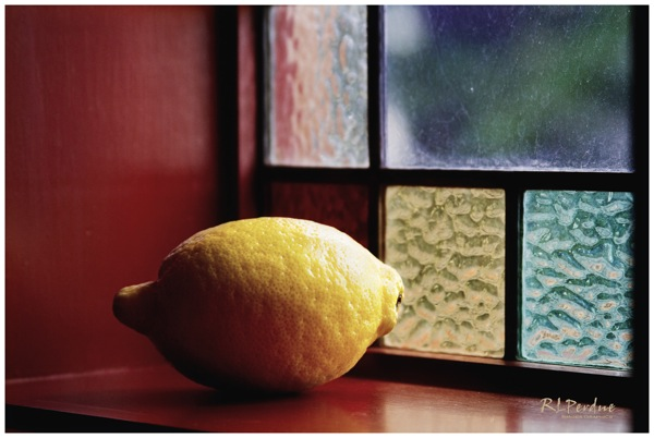 Lemon in the window