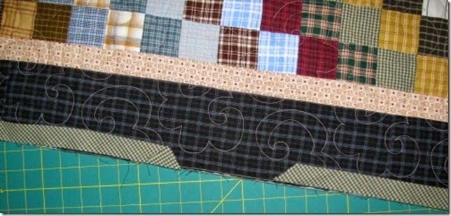 plaid bargello binding oops