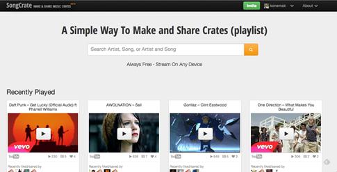Songcrate - playlist personalizados